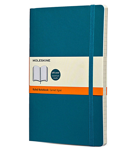 MOLESKINE Underwater blue large ruled notebook