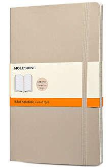 MOLESKINE Khaki beige soft ruled notebook