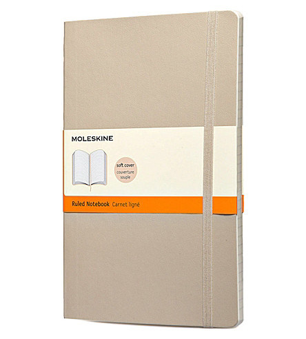 MOLESKINE Khaki beige soft ruled notebook