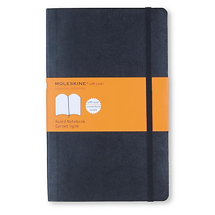 MOLESKINE Soft large ruled notebook (Black