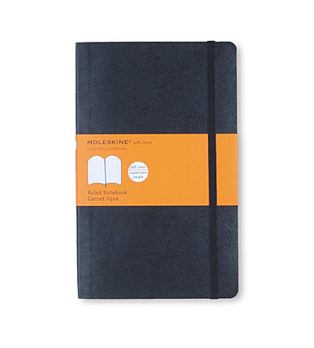 MOLESKINE Soft large ruled notebook (Black
