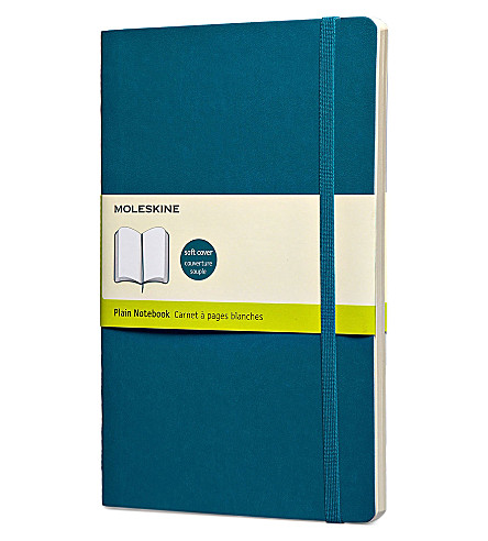 MOLESKINE Underwater blue large plain notebook