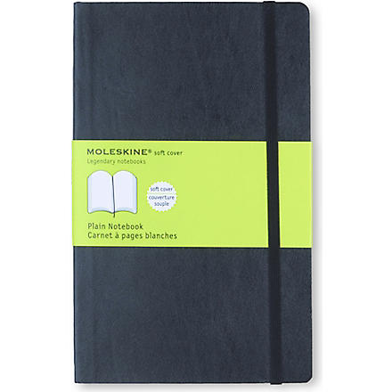 MOLESKINE Soft large plain notebook (Black