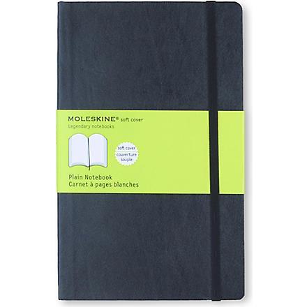MOLESKINE Soft large plain notebook (Black