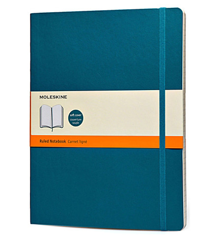MOLESKINE Underwater blue extra large ruled notebook