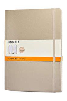 MOLESKINE Khaki beige extra large ruled notebook