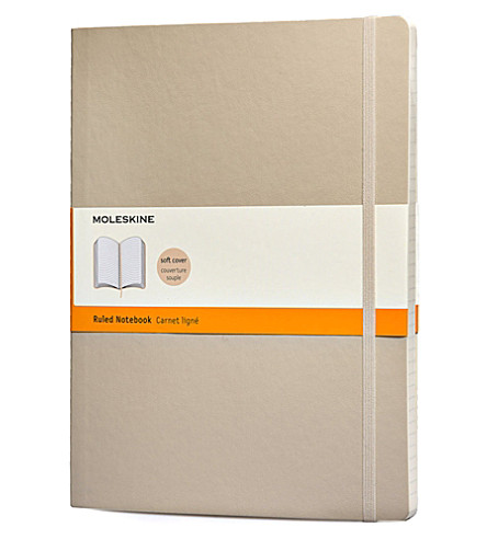 MOLESKINE Khaki beige extra large ruled notebook