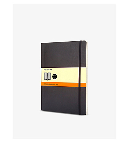 MOLESKINE Extra large soft cover ruled notebook (Black
