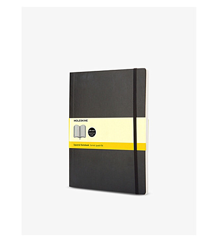MOLESKINE Extra large soft cover squared notebook (Black