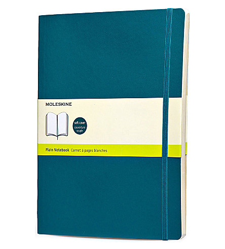 MOLESKINE Underwater blue extra large plain notebook
