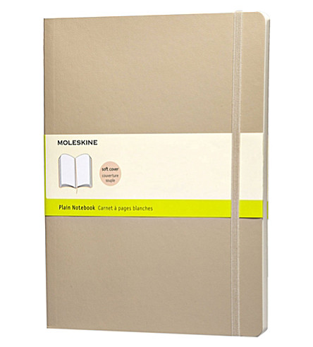 MOLESKINE Extra Large Plain khaki beige notebook