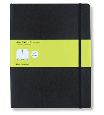 MOLESKINE Extra large soft cover plain notebook (Black