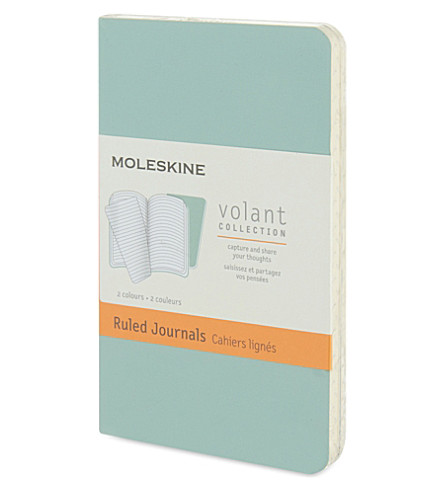 MOLESKINE Volant extra small ruled journals pair 10.5cm