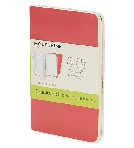 MOLESKINE Volant extra-small plain journal set of two