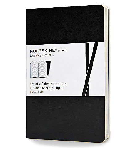 MOLESKINE Volant pocket ruled black notebook