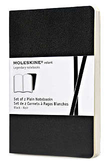 MOLESKINE Set of two Volant Plain Pocket notebooks