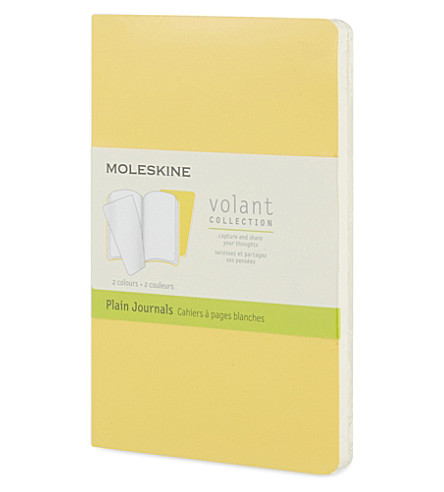 MOLESKINE Volant small ruled journals pair 14cm