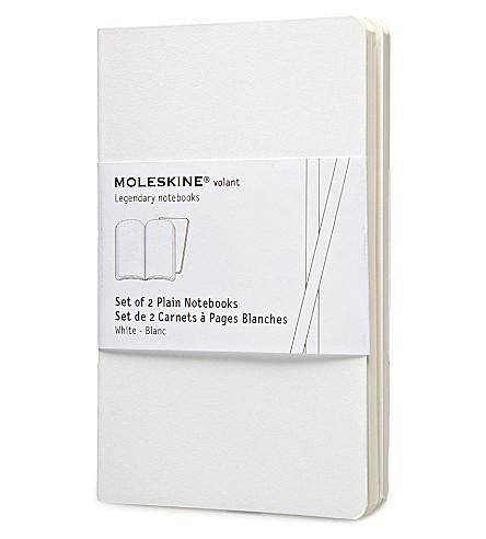 MOLESKINE 展翅口袋素色白色笔记本