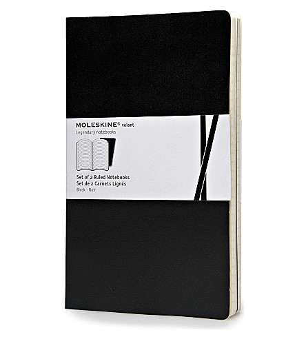 MOLESKINE Large volant black ruled notebook