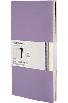MOLESKINE Set of two ruled Volant Pocket large notebooks