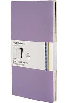 MOLESKINE Set of two ruled Volant Pocket large notebooks