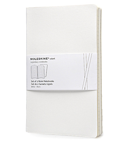 MOLESKINE Volant large ruled white journal
