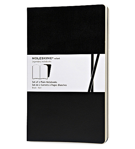 MOLESKINE Large volant black plain notebook