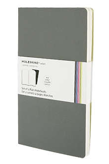MOLESKINE Set of two plain Volant L notebooks