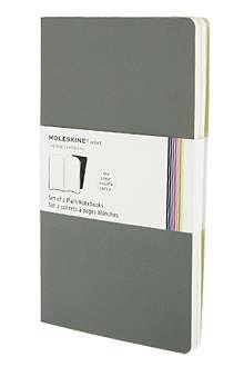 MOLESKINE Set of two plain Volant L notebooks