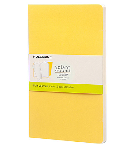 MOLESKINE Set of two cahier large plain journals