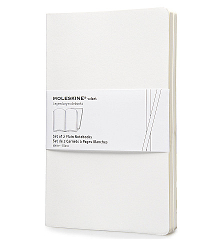 MOLESKINE Large volant white plain notebook