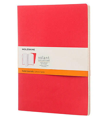MOLESKINE Set of two cahier extra large plain journals