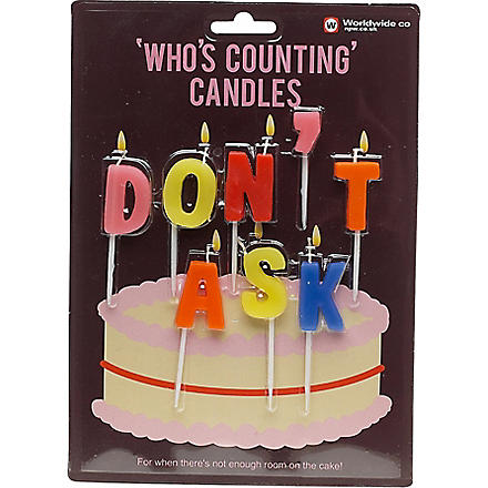 NPW Don't Ask birthday candles