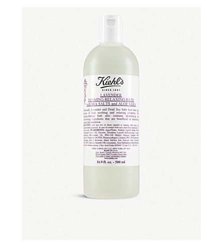 KIEHL'S Lavender foaming-relaxing bath with sea salts and aloe 250ml