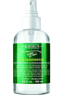 KIEHL'S Men's Oil Eliminator refreshing shine control spray toner 180ml