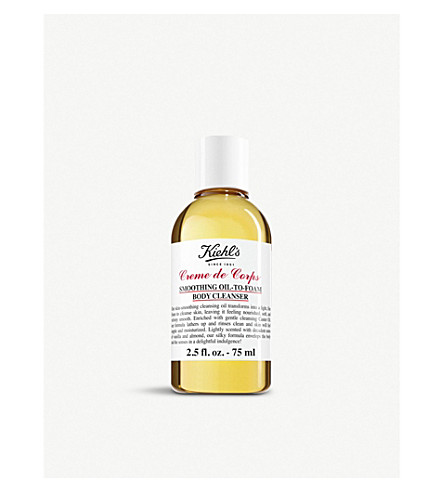KIEHL'S Crème de Corps Smoothing Oil to Foam Body Cleanser 75ml