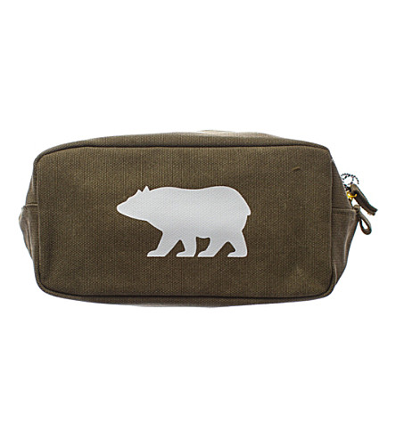 IZOLA Bear cotton wash bag