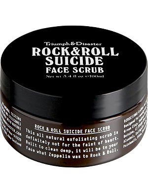 TRIUMPH & DISASTER Rock & Roll Suicide face scrub