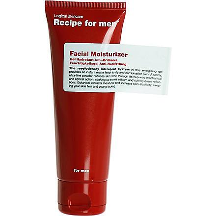 RECIPE FOR MEN Facial moisturiser