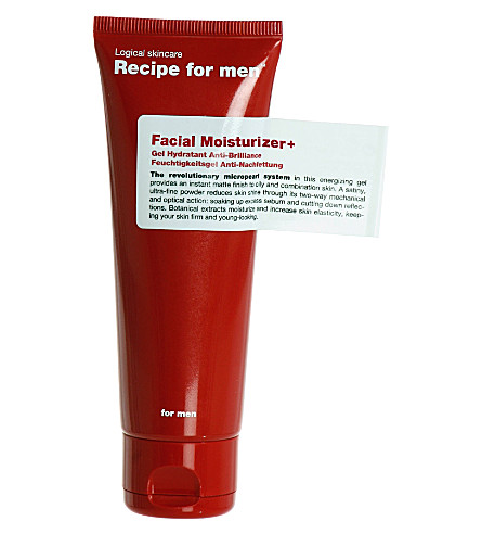 RECIPE FOR MEN Facial moisturiser +