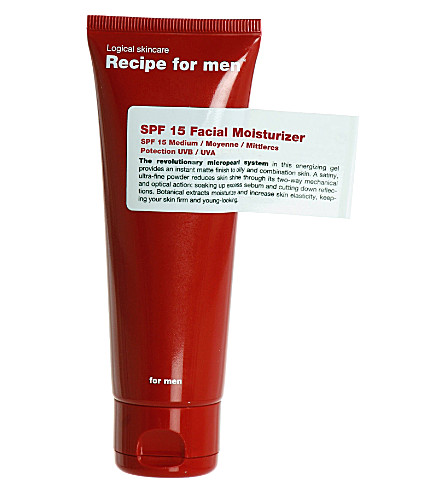 RECIPE FOR MEN Facial moisturiser SPF 15 75ml