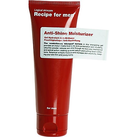 RECIPE FOR MEN Anti-shine moisturiser