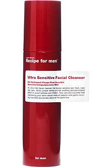 RECIPE FOR MEN Ultra Sensitive facial cleanser