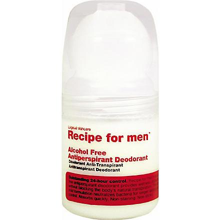 RECIPE FOR MEN Alcohol-Free Antiperspirant deodorant