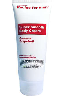 RECIPE FOR MEN Super Smooth body cream