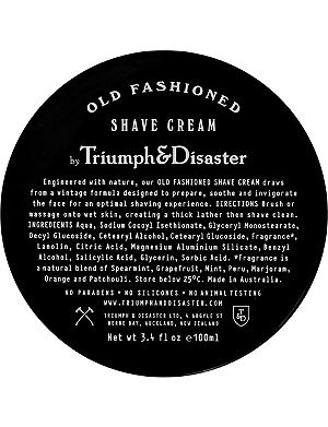 TRIUMPH & DISASTER Old-fashioned shave cream