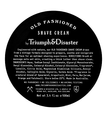 TRIUMPH & DISASTER Old-fashioned shave cream 100ml