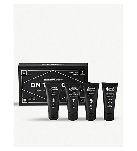 TRIUMPH & DISASTER On The Road travel set