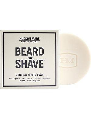 HUDSON MADE Original white beard & shave soap 100g