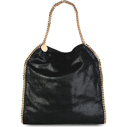 STELLA MCCARTNEY Falabella large faux-suede tote (Black